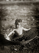 Edward Curtis Framed Prints - Native American Maricopa child Framed Print by The  Vault