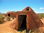 Native American Shelters Print by John Malone