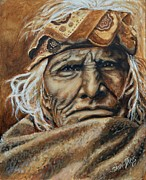 Native Painting Originals - Native American by Shirl Theis