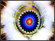 Native Americans Originals - Native American White Fur Headdress by Dora Sofia Caputo