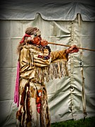 Chief Framed Prints - Native American with Blowgun Framed Print by Paul Ward