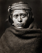 Edward Curtis Prints - Native American Zuni Man Print by The  Vault