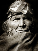 American Indian Portrait Prints - Native American Zuni -  Si Wa Wata Wa  Print by The  Vault