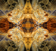 Sepia Digital Art - Native Charm - Abstract by Zeana Romanovna