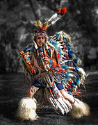 Descendants Framed Prints - Native Dance Framed Print by Dawn Currie