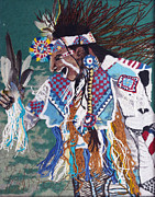 Lint Framed Prints - Native Dancer Framed Print by Heidi Hooper