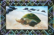 Hawaii Sea Turtle Paintings - Native Honu by Ann Hurst