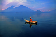 Native Photos - Native Mayan fisherman on Lake Atitlan by Thomas R Fletcher