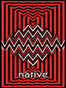 Blanket Digital Art Framed Prints - Native Framed Print by Methune Hively