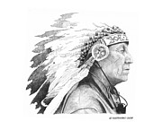 Chief Drawings Originals - Native Son by Paul Shafranski
