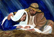 Christmas Paintings - Nativity by Gianluca Cremonesi