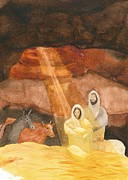 Nativity Paintings - Nativity by John Meng-Frecker