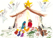 Nativity Paintings - Nativity by Molly Picklesimer
