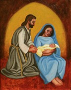 Child Jesus Painting Originals - Nativity Scene by Ruth Soller