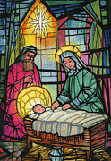 Glass Paintings - Nativity  by Stanley Cooke