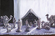 Nativity Paintings - Nativity by Thomas Michael Meddaugh