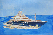 Liner Mixed Media - Nats Luxury Boat Liner by Nat Solomon