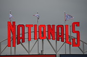 Nationals Park Posters - Nats Sign Poster by George Breeden