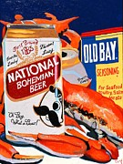 Crab Posters - Natty Boh Poster by Christopher Mize