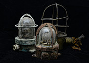Cage Art - Natuical - Vintage Ship Deck Lights by Paul Ward
