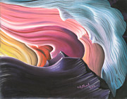 Cave Pastels - Natural abstract  4 by Charles Hubbard