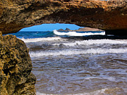 Stone Bridge Framed Prints - Natural Bridge Aruba Framed Print by Amy Cicconi