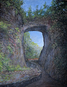 Wonder Of The World Paintings - Natural Bridge by Kenneth Stockton