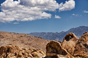 Peggy J Hughes Prints - Natural Heart Arch in the Alabama Hills Print by Peggy J Hughes