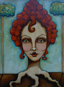 Self Taught Prints - Natural Red Head Print by Sherry Dooley