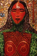 Warrior Goddess Paintings - Natural Warrior Goddess by Cynthia  Hagenhoff