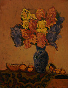 Still-life With Peaches Prints - Naturaleza muerta Print by Monica Caballero