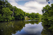 Nature Center Pond Prints - Nature Center On Salt Creek Print by Thomas Woolworth