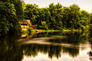 Nature Center Pond Prints - Nature Center Salt Creek In August Print by Thomas Woolworth