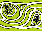 Aboriginal Art Digital Art - Nature flow of energy by Lida Bruinen