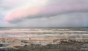 Thunderstorm Framed Prints - Nature is an Artist Framed Print by Betsy A Cutler East Coast Barrier Islands