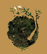 Fantasy Tree Art Metal Prints - Nature sound Metal Print by Budi Satria Kwan