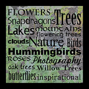 Eva Thomas - Nature Word Art