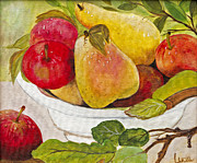 Fruit Still Life Posters - Natures Bounty by Lucia Van Hemert Poster by Sheldon Kralstein