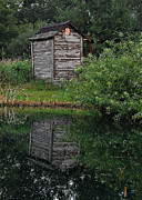 Antique Outhouse Photos - Natures Call by Amy Schauland