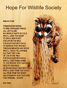 Animals Love Pyrography Posters - Natures Child Poster by Ron Haist