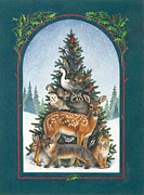 Wild Animals Metal Prints - Natures Christmas Tree Metal Print by Lynn Bywaters