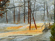 Google Mixed Media - Natures Fury - Yellowstone National Park by Photography Moments - Sandi