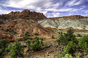 Utah Sky Framed Prints - Natures Valley Framed Print by Stephen Campbell