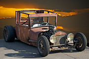 Ford Model T Car Posters - Naugh T Rat Rod Poster by Dave Koontz