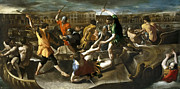 Famous Artists - Naumachia . Gladiatorial naval battle in ancient Rome by Giovanni Lanfranco