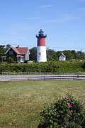 Chatham Posters - Nauset Light - Chatham Poster by Christiane Schulze
