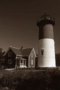 Cape Cod Lighthouses Posters - Nauset Lighthouse Poster by Skip Willits