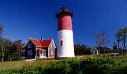 Cape Cod Lighthouses Framed Prints - Nausett Lighthouse Framed Print by Skip Willits