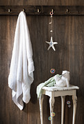 Nautical Bathroom Print by Christopher and Amanda Elwell