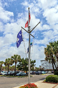 Flag Pole Digital Art - Nautical Flag Pole by Sennie Pierson